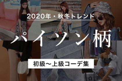 2020年秋冬はこれで決まり!初級〜上級別パイソン柄コーデをチェック!